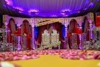 INDIAN WEDDING DARBAR STAGE SET