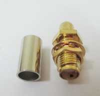 RP SMA (M) B/H For Rg 58 Connector