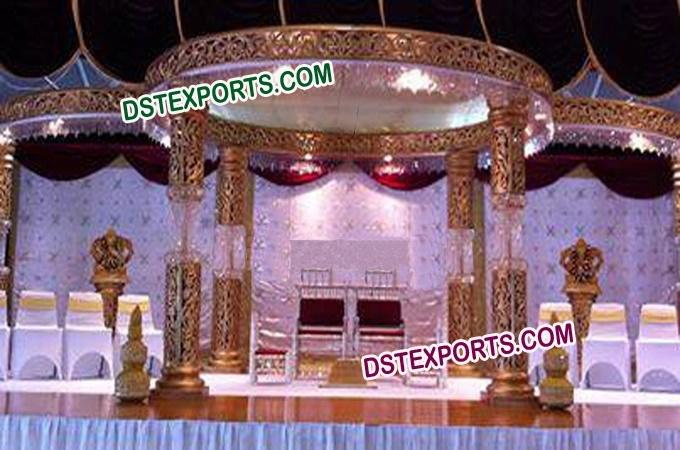New Royal Golden Crystal Mandap Set