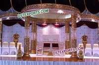 New Royal Golden Crystal Mandap Set