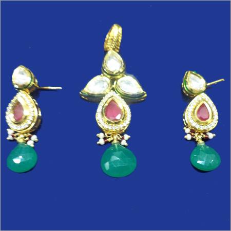 Gold Pearl Pendant Sets
