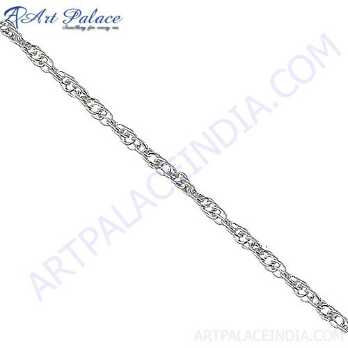 2013 New Fashionable Simple Silver Chain, 925 Sterling silver