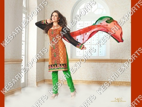 Cotton Chanderi Salwar Suits