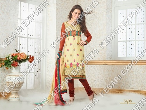 Chanderi cotton salwar suits