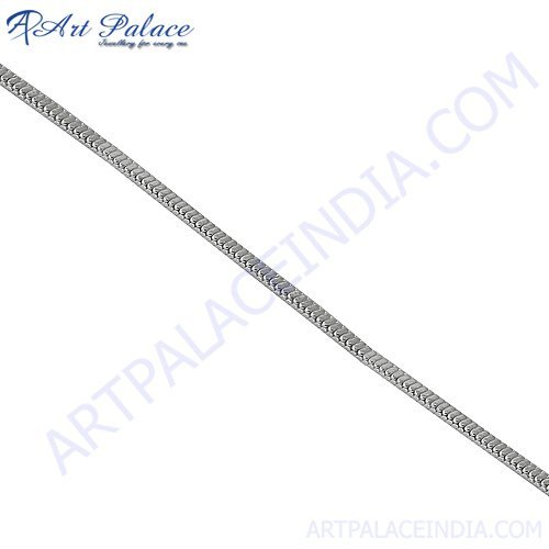 925 Sterling Silver, Simple Plain Silver Chain Jewelry