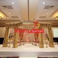 Golden carved mandap