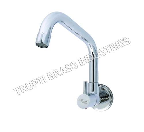 Sink Cock With Extended Swinging Spout