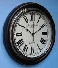 Wood & Brass Wall Clock