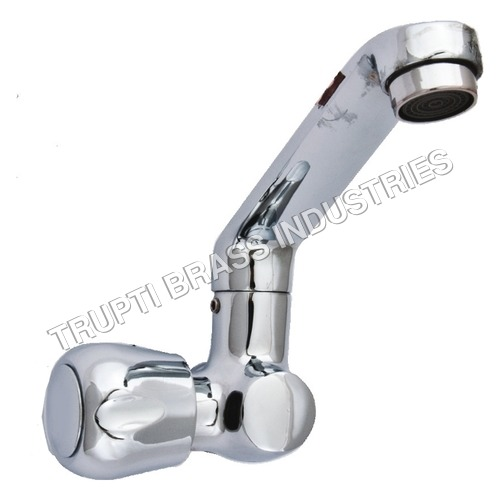Swan Neck Pillar Tap With Central Hole