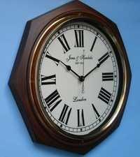 Wood & Brass Clock Stylish
