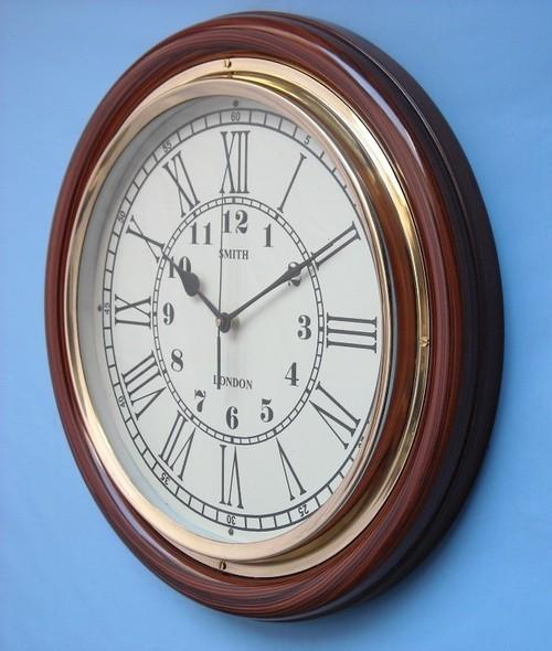 Wood & Brass Rosewood Polish Clock