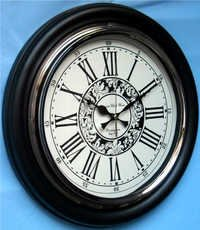 Wood & Brass Black Clock