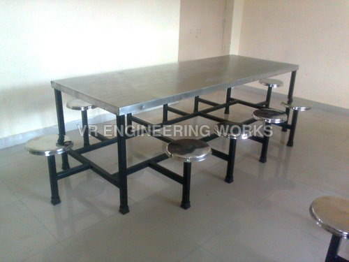 10 Seater SS Canteen Dining Table