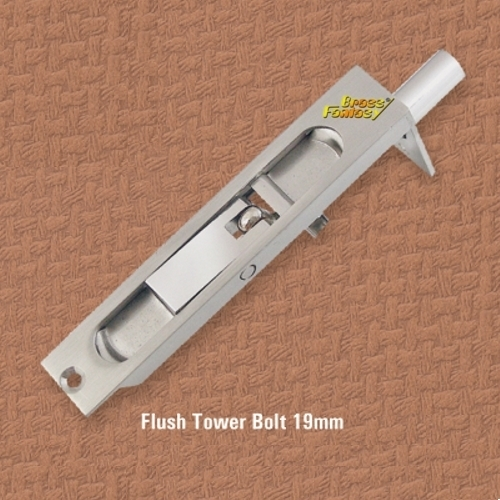 Brass Flush Bolt 19mm