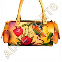Flower Painted Leather Bag
