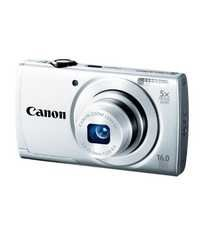 Canon PowerShot A2500 16MP Point-and-Shoot Digital Camera (Silver) with 4GB SD Card, Camera Case