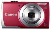 Canon PowerShot A2500 16MP Point-and-Shoot Digital Camera (Red) with 4GB SD Card, Camera Case