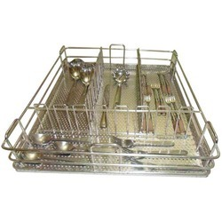 Perforated Sheet Cutlery Basket