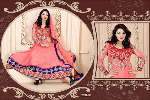 Embroidery worked bridal Anarkali Suit