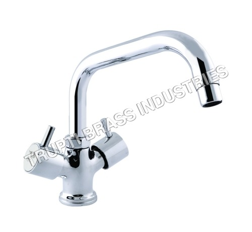 Basin Mixer Central Hole With Extended Spout With