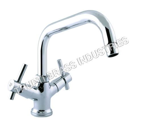 Basin Mixer Central Hole With Extended Spout