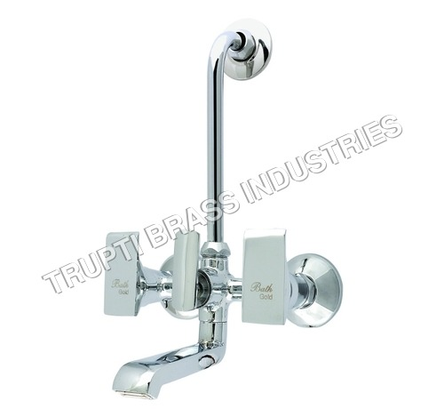 Wall Mixer With Bend For Arrangement Of Overhead