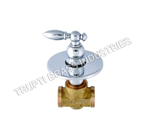 Flush Cock Ceramic Quarter Turn & Wall Flange