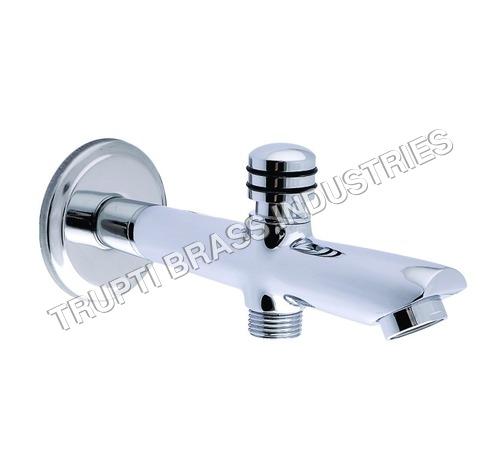 Bath Tub Spout With Wall Flange Cp & Button Attach