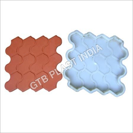 Interlocking Chequered Tiles Moulds