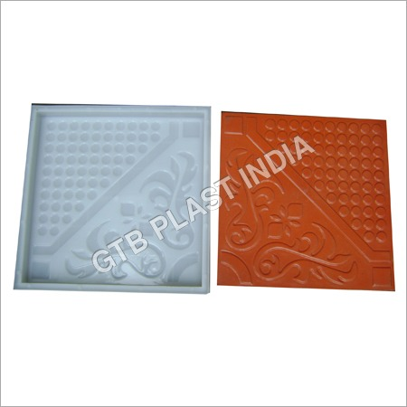Flower Chequered Tiles Moulds