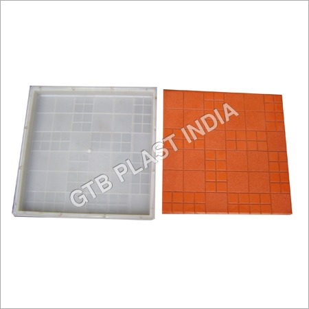 Double Round PVC Chequered Tiles Moulds
