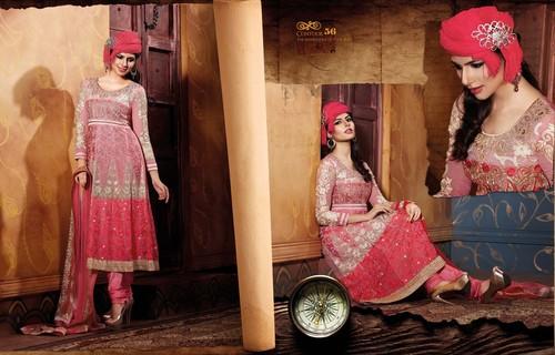Basic Pink Anarkali Suit
