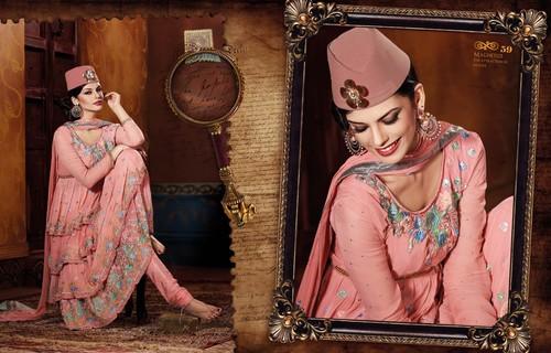 Viscose-Georgette Net Anarkali Suit