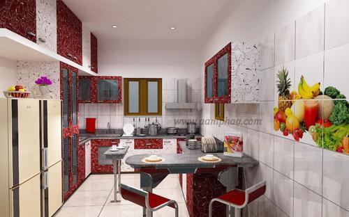 Dual Colour Kitchen Cabinets