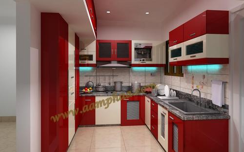 Red Kitchens Design In Thanjavur