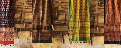 100% Cotton Ajraak Shawls Of India