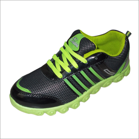 Green Black Sport Shoes
