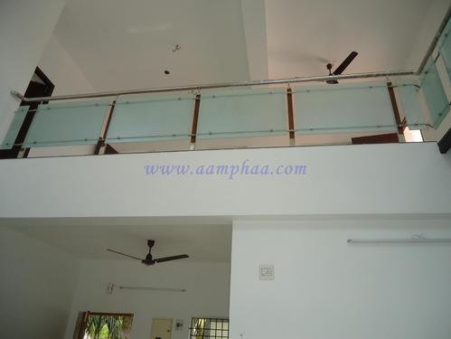Balcony Railing with Frosted Glass