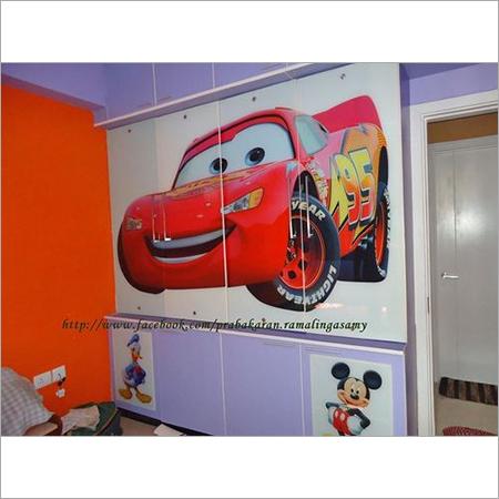 Modern wardrobe for kids room