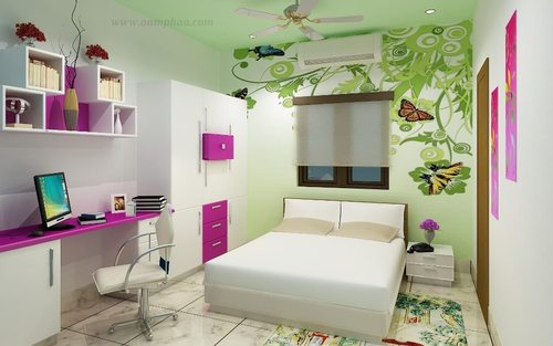 Kids Bedroom With Study Table Images