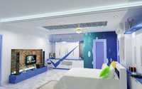 Colour full bedroom 3d design