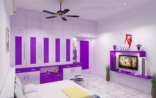 color full bedroom design