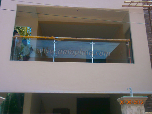 Exterior Design Balcony SS with Glass Model