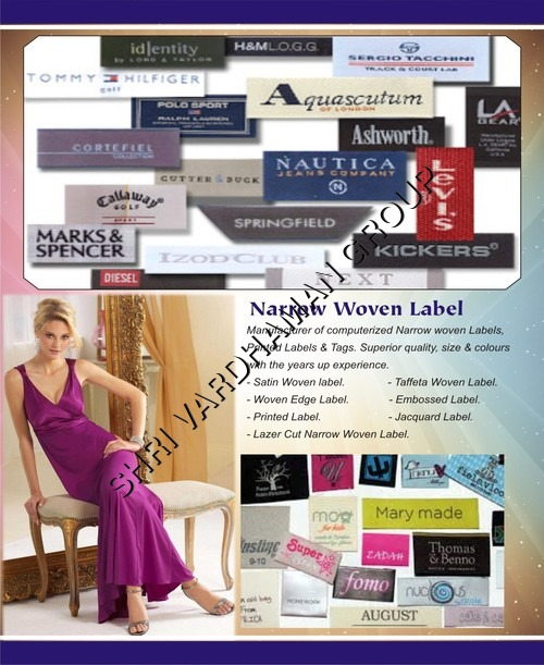 Narrow woven labels