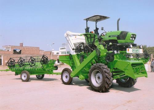 Tractor Mounted Crop Harvester