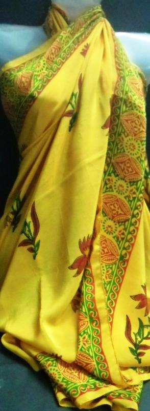 Silk printed scarf