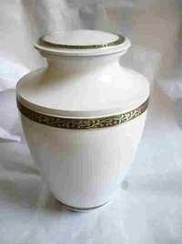 Brass Urn Snowhite