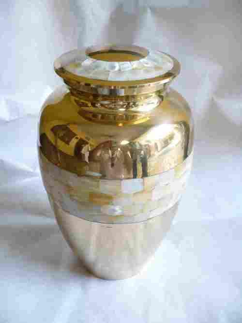Brass Pearl Urn