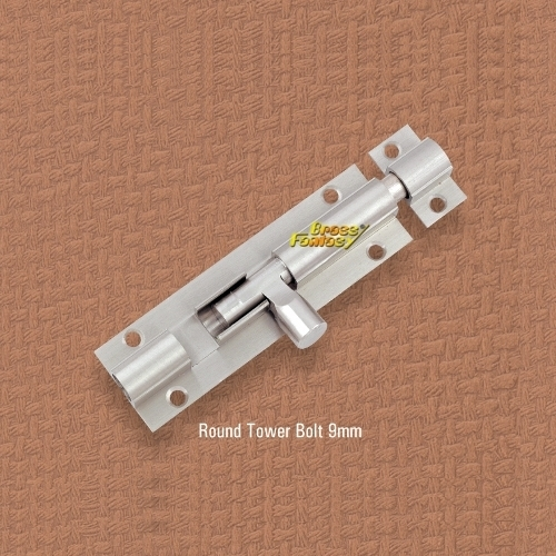 Round 9MM Tower Bolt