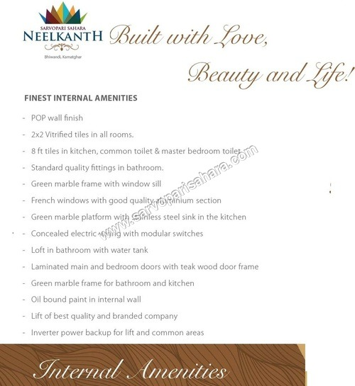 Amenities Of Adarsh Neelkanth